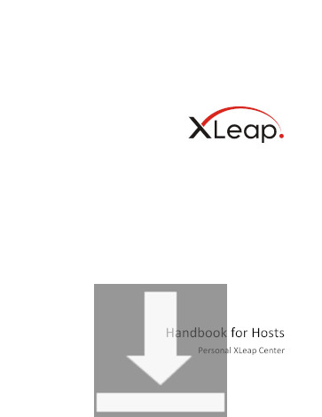 Download the Handbook for Hosts on a Personal XLeap Center