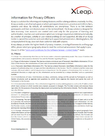 Information for Privacy Officers